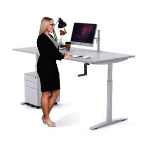 JasonL Stand Up Manual Sit Stand Desk